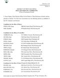Declaration of Candidates