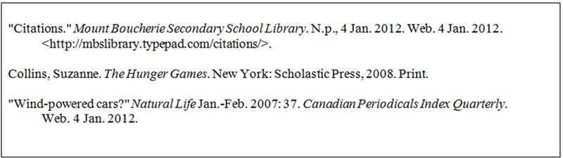 Sample bibliography