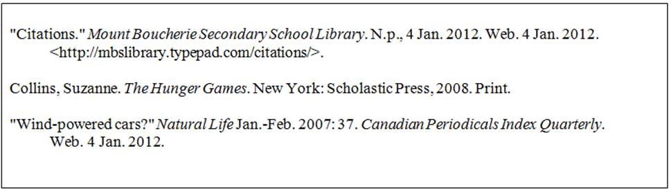 Sample bibliography - Academic research