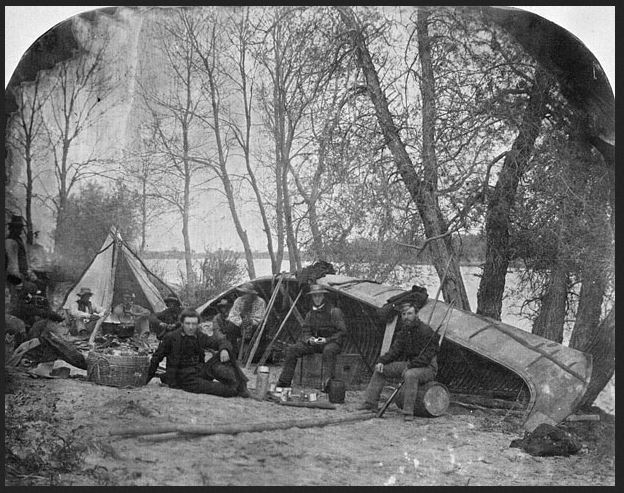 Red River encampment 1858archives Canada
